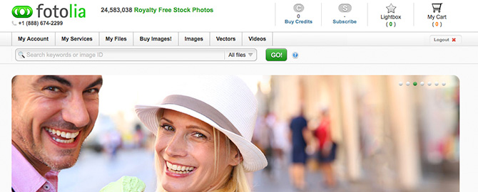 Fotolia Website