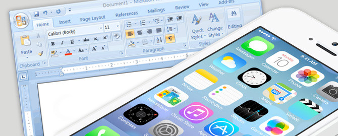 iOS7 Created In Word